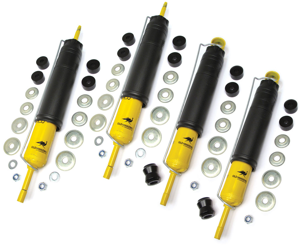 Shock Absorber Kit, Front And Rear, Nitrocharger Sport By Old Man Emu / ARB, For Land Rover Discovery 1, Defender 90 And 110, And Range Rover Classic