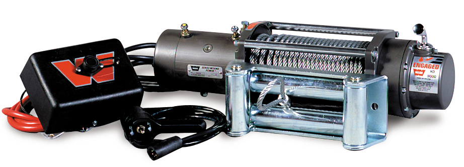 ARB Bull Bar And Winch Package: Heavy Duty Steel Bumper With Brush Bar And Warn 9,000 Lb. Winch
