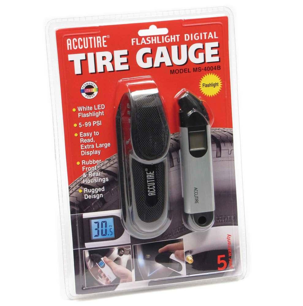 Accutire Digital Tire Gauge With Flashlight