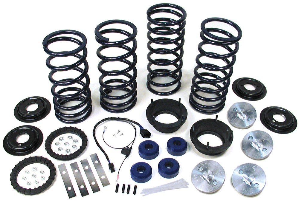 Lifted Profile Heavy Duty Air Suspension To Coil Spring Conversion Kit With EAS Override Harness And Set Of 4 Bilstein Performance Shocks (Adds 2 Inches Lift)