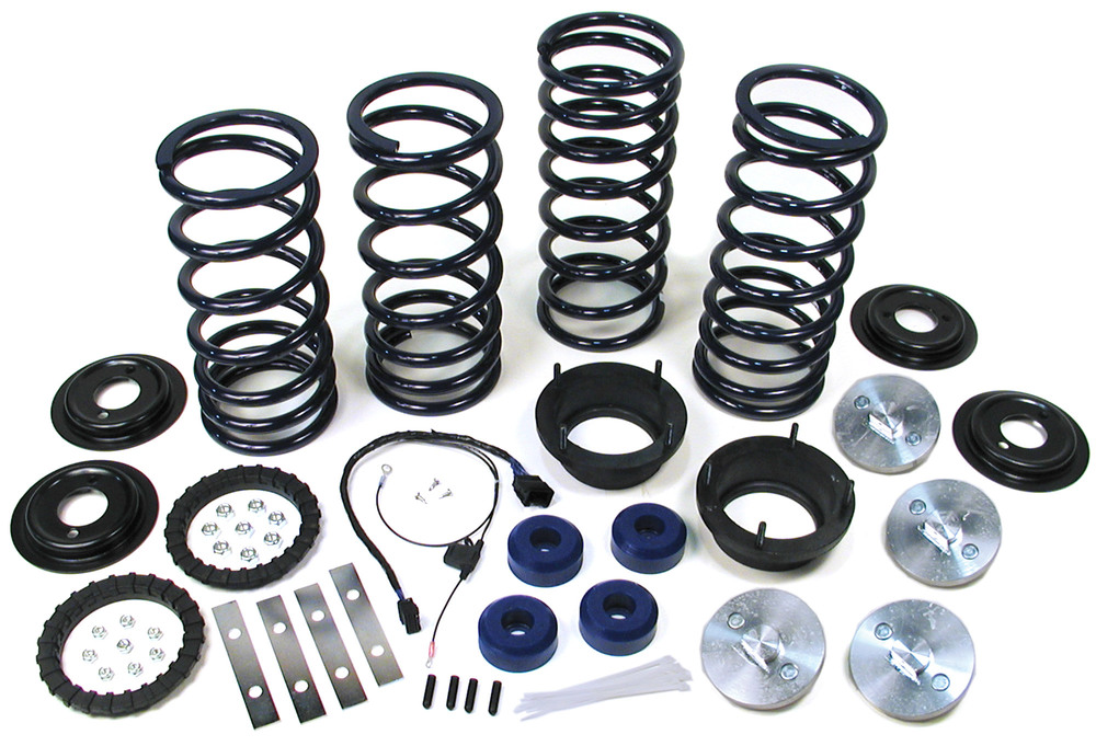 Standard Profile Air Suspension To Coil Spring Conversion Kit With EAS Override Harness And Set Of 4 Bilstein Performance Shocks For Range Rover P38