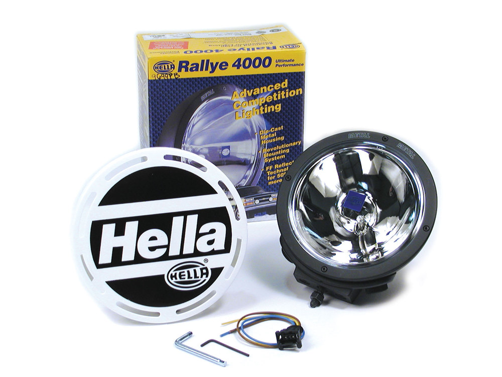 Kit includes A PAIR of Hella Rallye 4000 lights