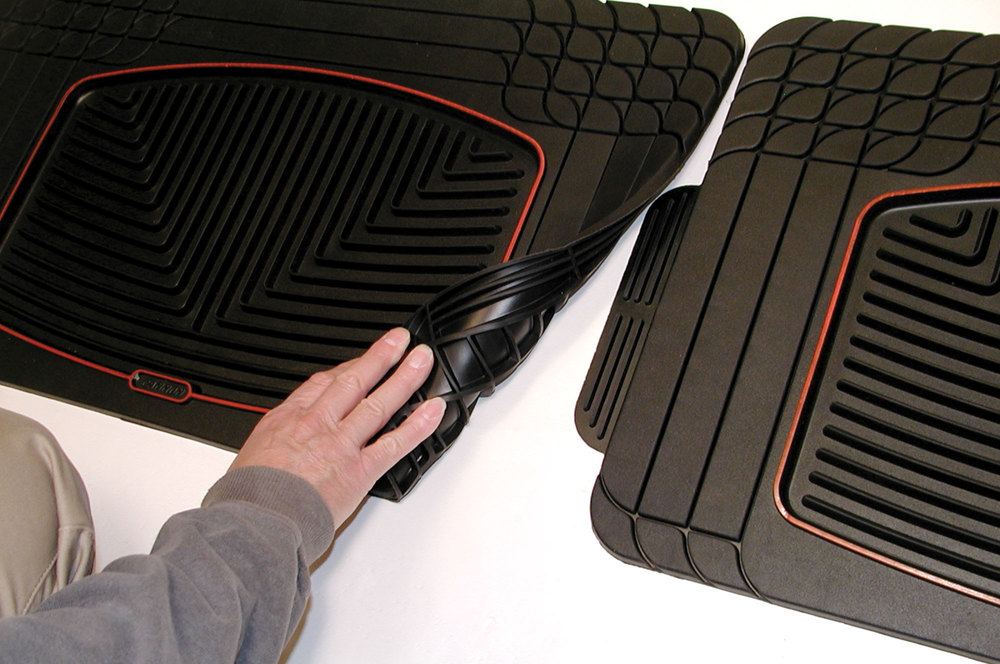 WeatherTech Classic Premium Rubber Floor Mats, Rear Seats Footwell, Black, For Land Rover Discovery Series 2 And Range Rover Full Size L322