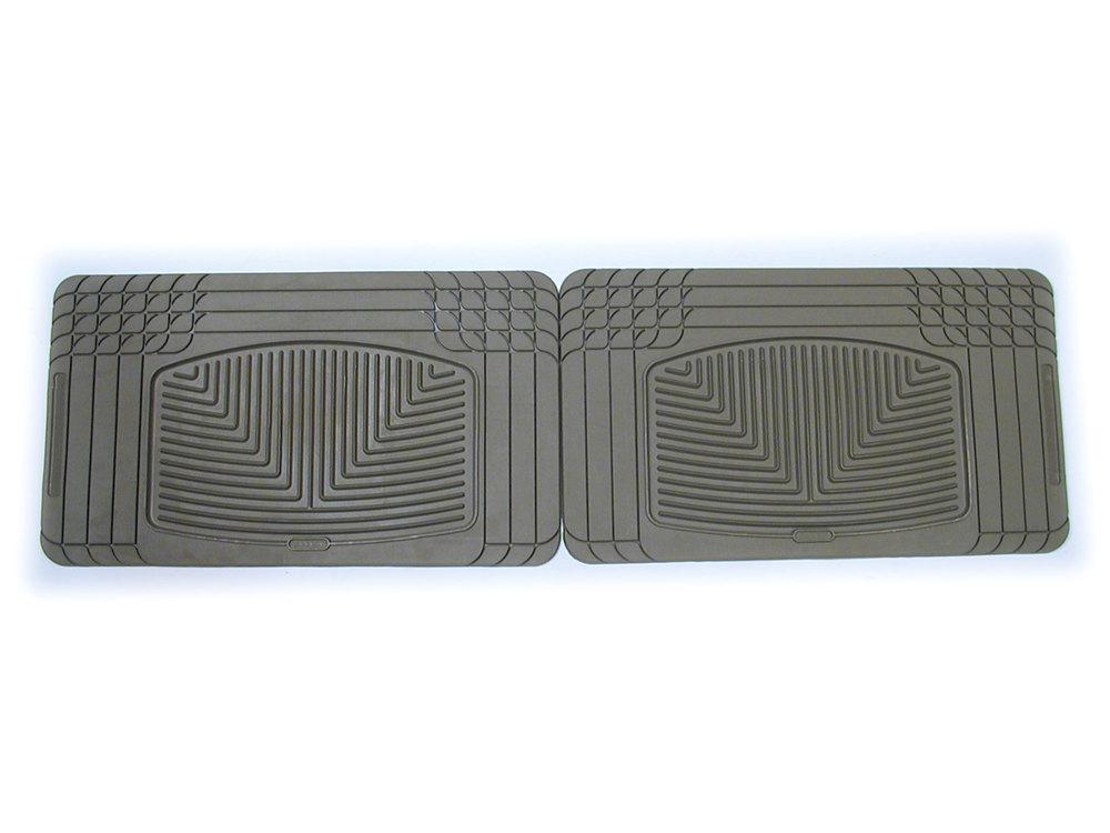 Weathertech® Classic Premium Rubber Floor Mats - Rear Footwell - Tan