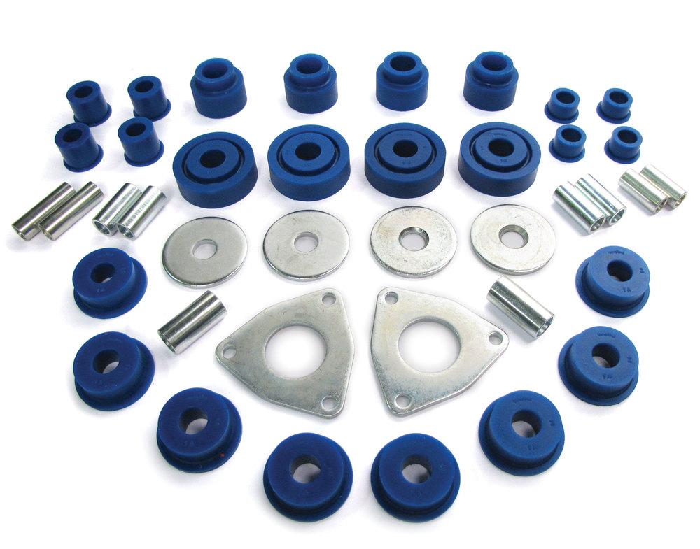 Polybush Set - Front & Rear Suspension (Blue/Soft)