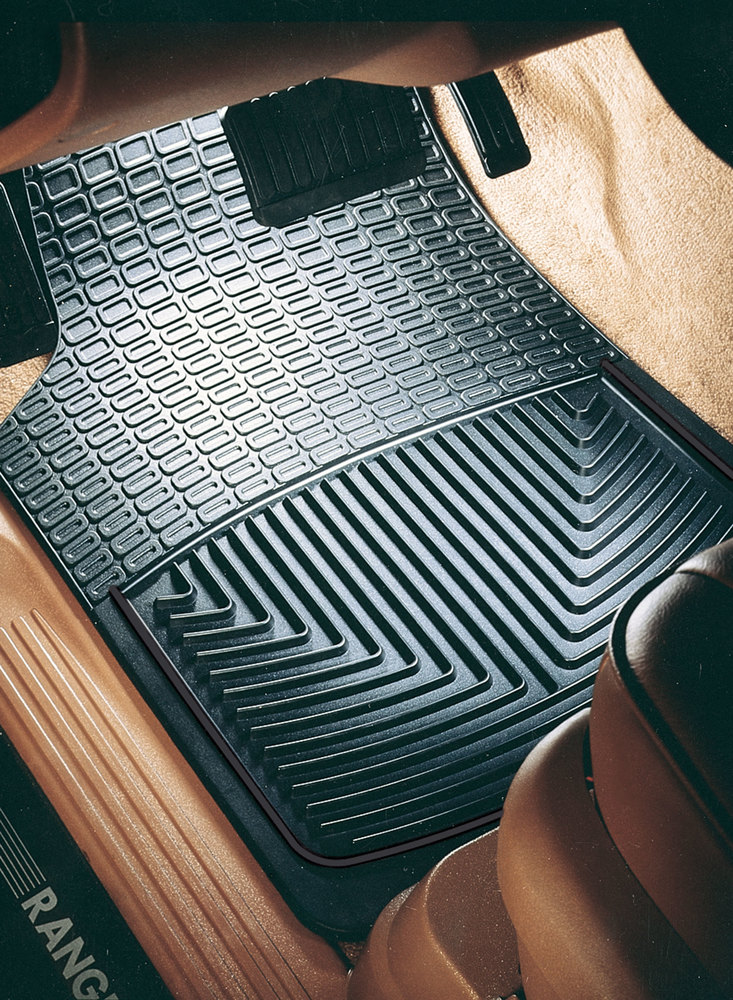 WeatherTech Classic Premium Rubber Floor Mats, Front Pair Set, Black, For Land Rover Discovery 1, Discovery Series 2, Range Rover P38 And Range Rover Classic