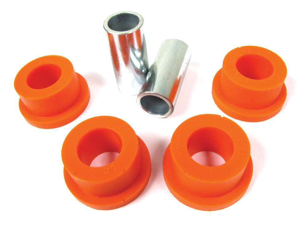 Polybush Polyurethane A-Frame Bushing Kit, Coil, Oange Dynamic 75A Semi-Firm, For Land Rover Discovery I, Defender 90 And Range Rover Classic