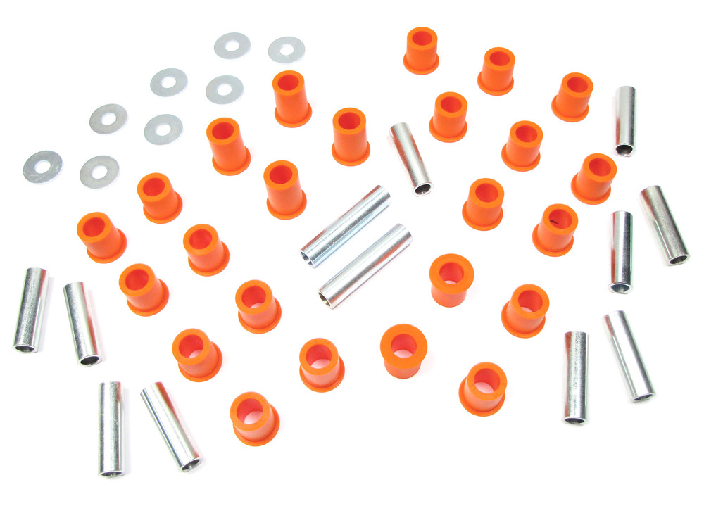 Polybush Front And Rear Suspension Polyurethane Bushing Set For Land Rover Series 2, 2A And 3, Short Wheel Base (Orange / Standard Firmness)