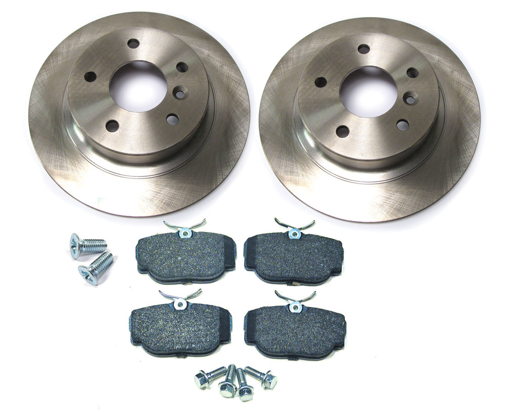 Rear Brake Rebuilding Kit With Ferodo Pads And Standard Rotors For Land Rover Discovery Series II And Range Rover P38