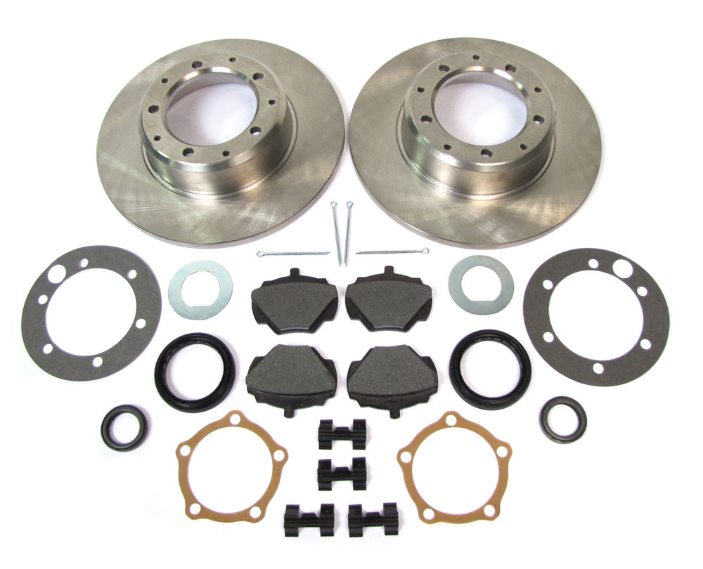 Rear Brake Rebuilding Kit, Includes Standard Rotors And Pads With Hardware And Seals, For Land Rover Discovery I
