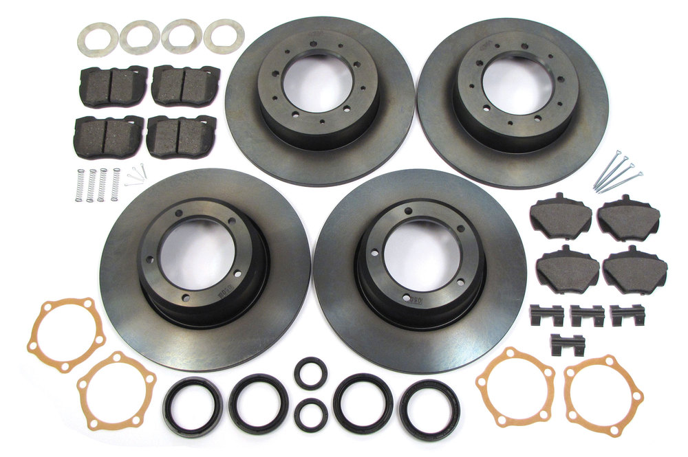 Genuine Brake Rebuild Kit, Front And Rear, Includes Genuine Rotors, Brake Pads, Pins, Clips And Replacement Seals, For Land Rover Discovery I