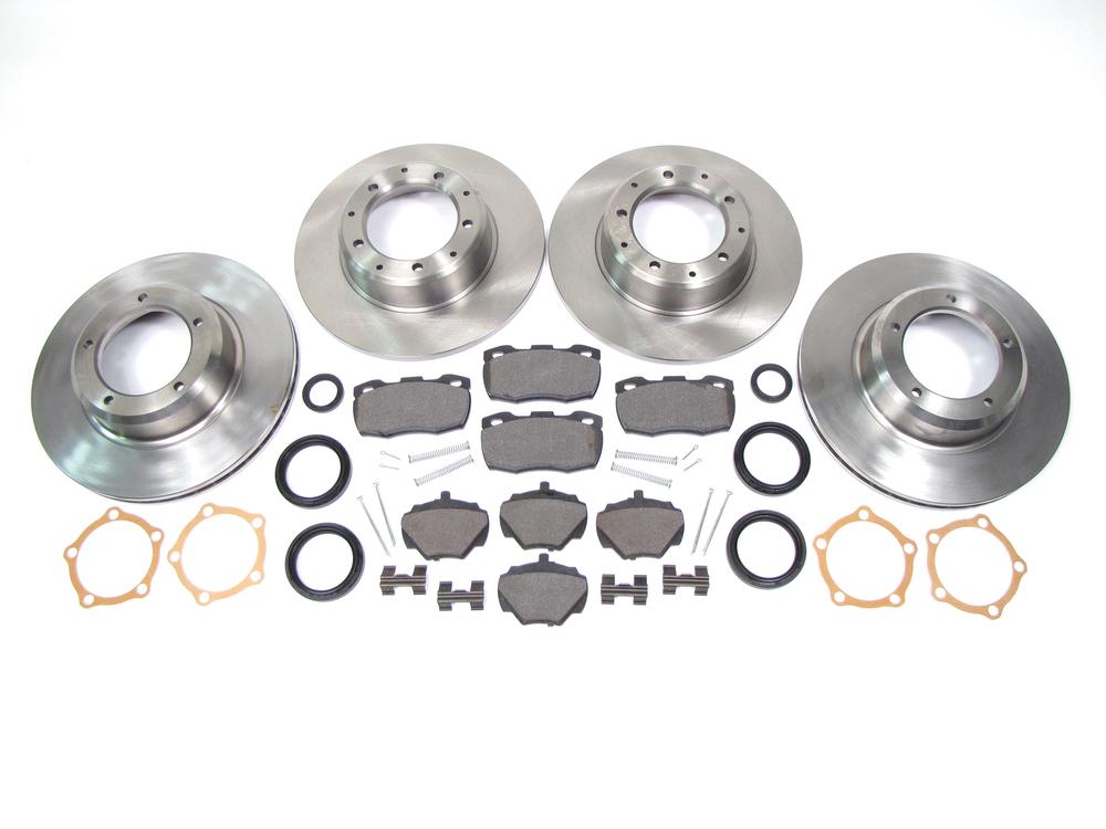 brake kit - rotors, pads, hardware