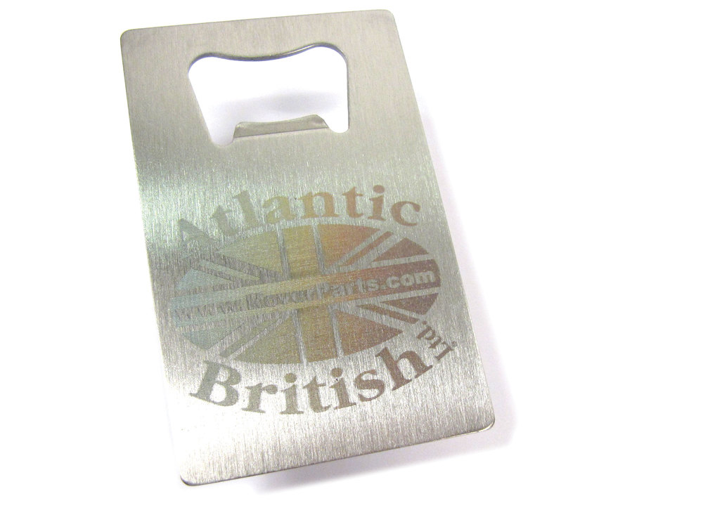 Stainless Steel Bottle Opener Wiith Laser-Etched Atlantic British Logo