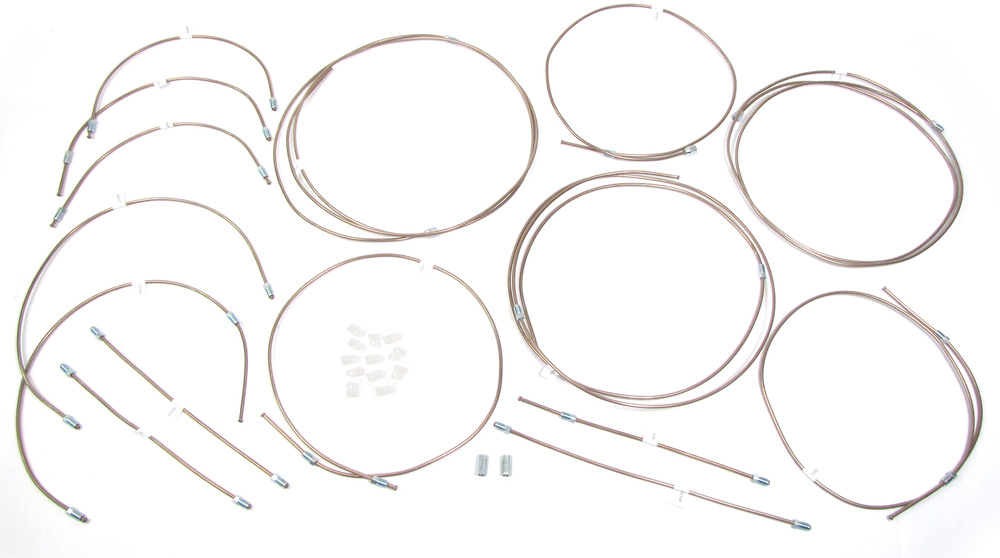 Brake Pipe Replacement Kit For Land Rover Discovery I, Featuring Non-Corrosive Copper And Nickel EziBend Pipes
