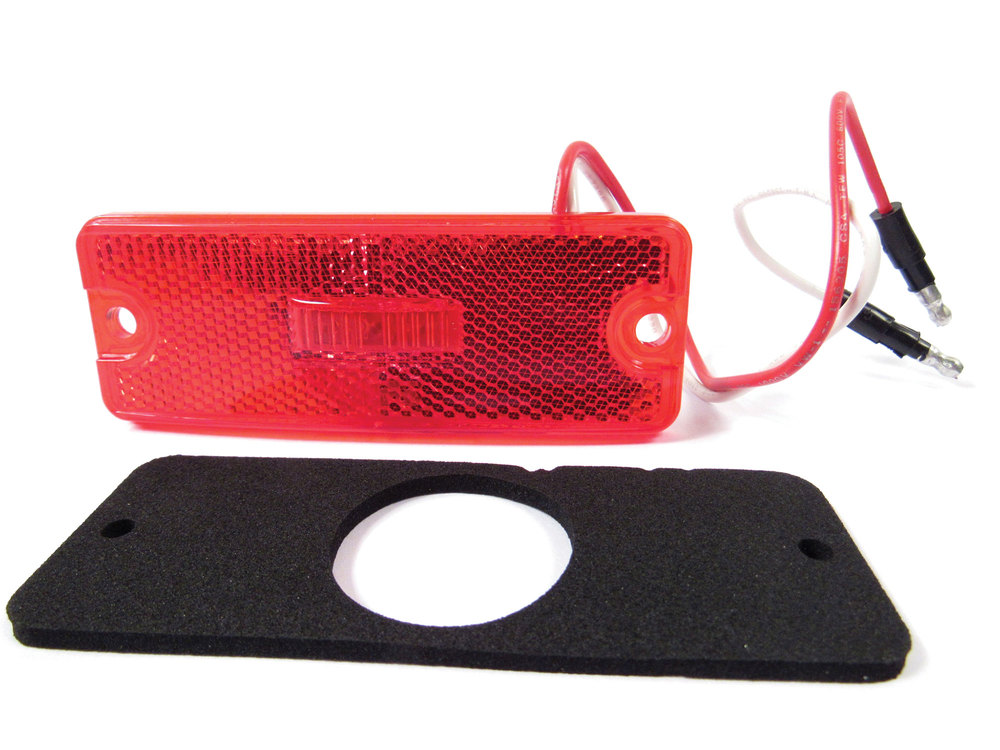 Directional LED Lamp Side Marker Assembly, Rear Red, For Land Rover Defender 90 And 110 (See Fitment Years)