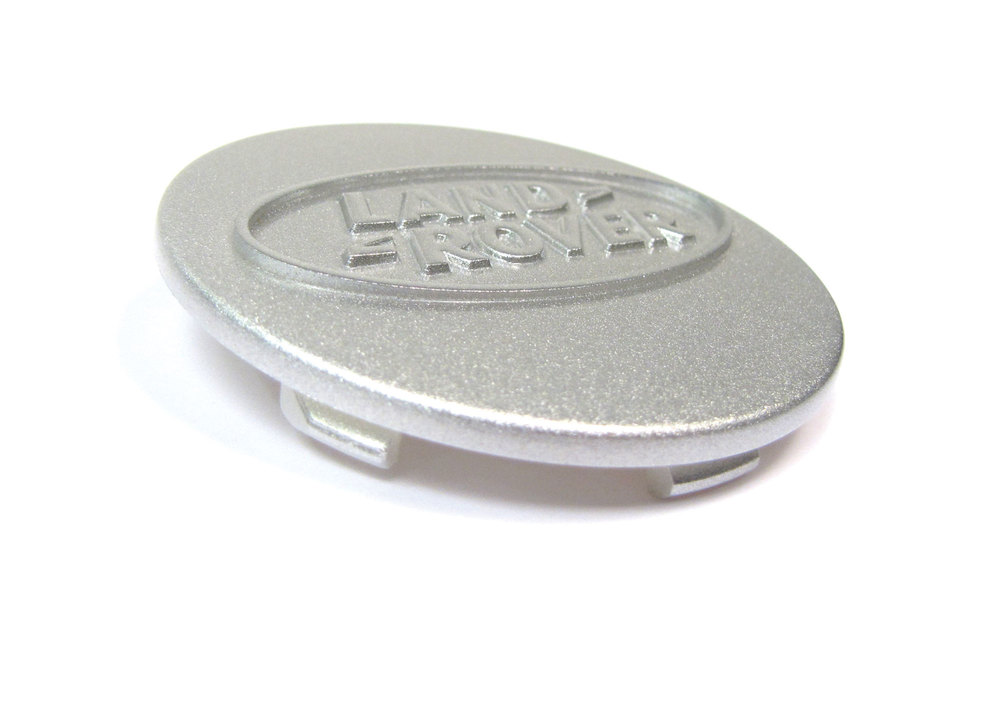 Genuine Wheel Center Cap, Silver With Land Rover Logo, For Land Rover Discovery I, Defender 90 And 110, And Range Rover Classic, Per Each