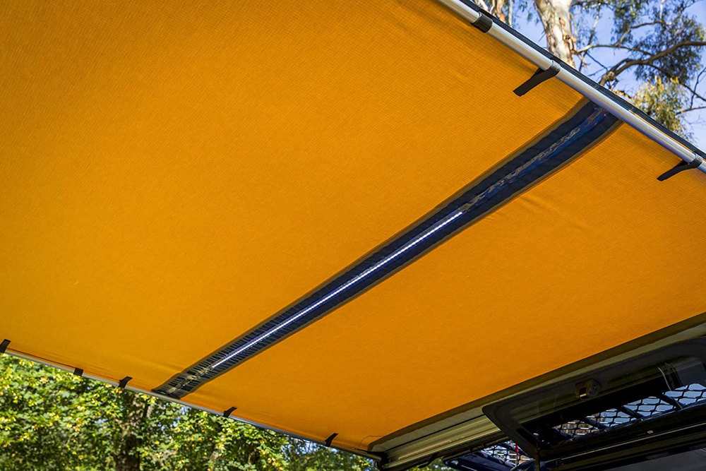 ARB Touring Retractable Awning With LED Light Bar Kit 2500 X 2500 MM (814410)