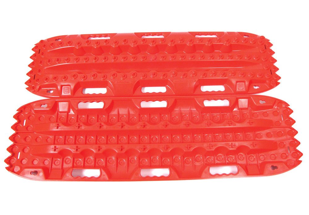 ActionTrax Off-Road Recovery Boards And Track System, Red, Pair