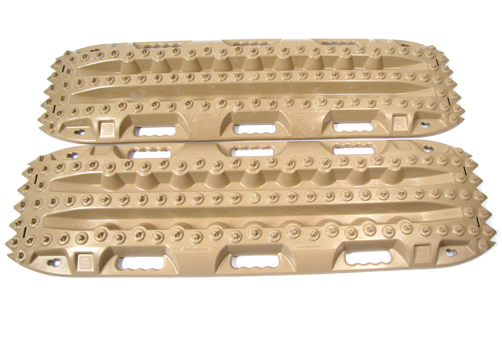 ActionTrax Off-Road Recovery Boards And Track System, Desert Tan, Pair