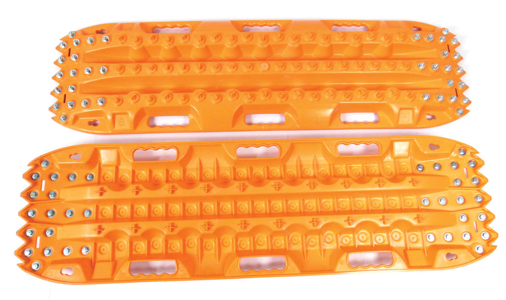 ActionTrax Off-Road Vehicle Recovery Track System With Steel Grips, Orange, Pair