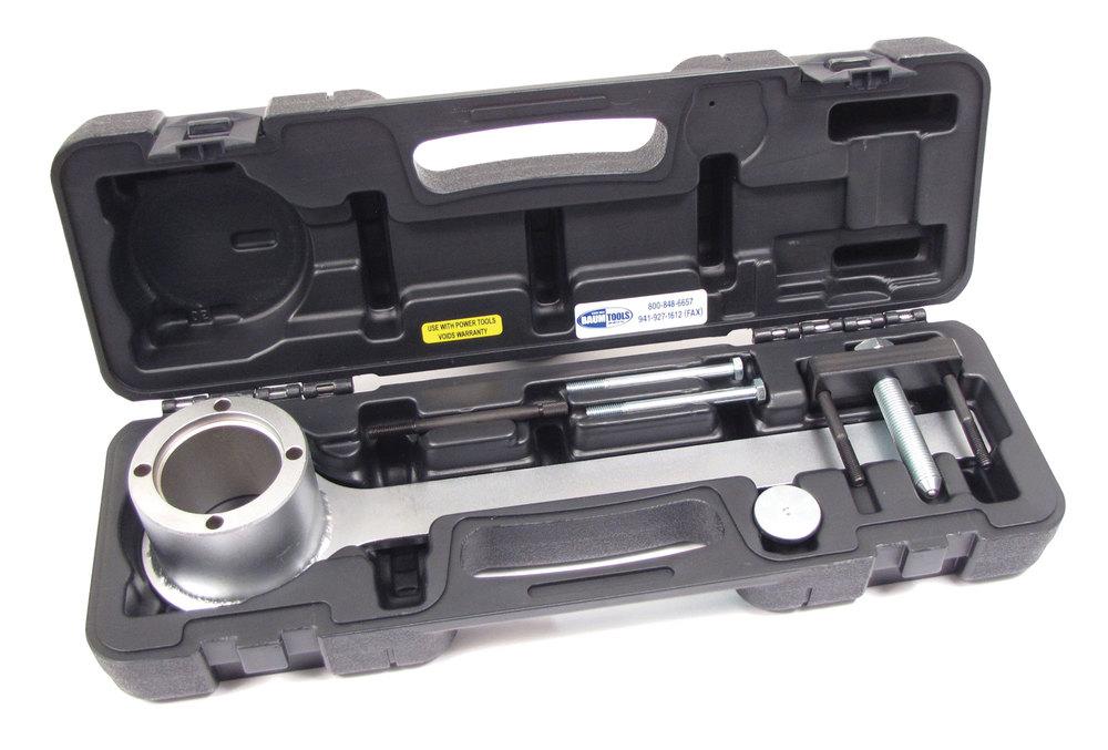 Crankshaft Pulley Removal And Installation Tool For Jaguar 4.4L And 4.2L V8 Engines