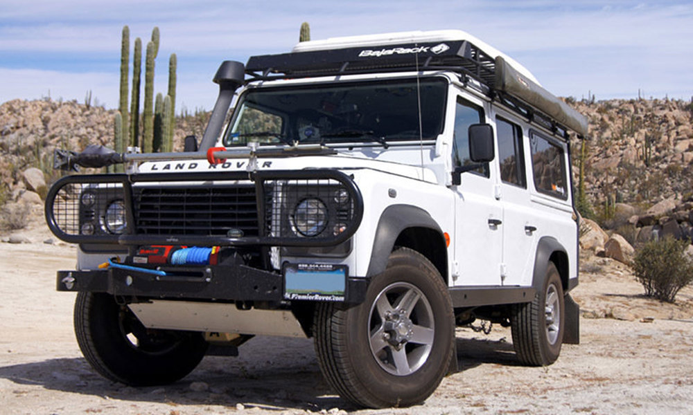 Utility Flat Rack By BajaRack For Land Rover Defender 110 (Without Roll Cage)