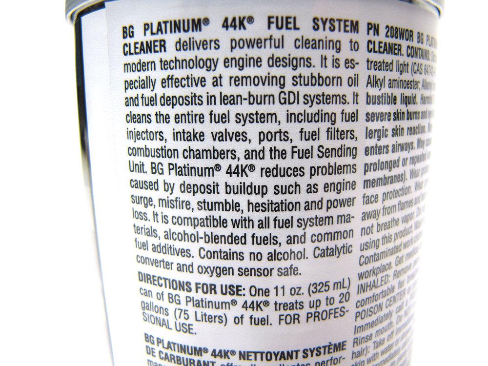 BG 44K Fuel System Cleaner 11 Oz