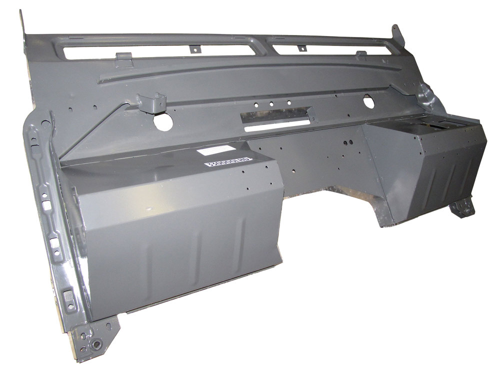 Replacement Galvanized Bulkhead Firewall By Shielder 330000LHD For Land Rover Series 2 1958 - 1965 And 2A 1966 Positive Earth, Left Hand Drive North American Spec
