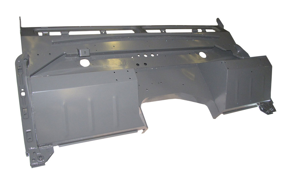 Replacement Galvanized Bulkhead Firewall By Shielder 345879LHD, For Land Rover Series 2A, 1967-1971 Negative Earth, Left Hand Drive North American Spec