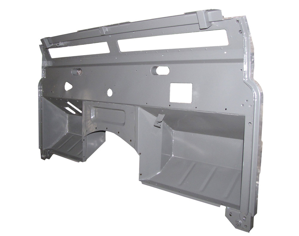 Replacement Galvanized Bulkhead Firewall By Shielder AHA710450, For Land Rover Defender 300 Tdi With Air Vents, 1993 - 2006, Left Hand Drive
