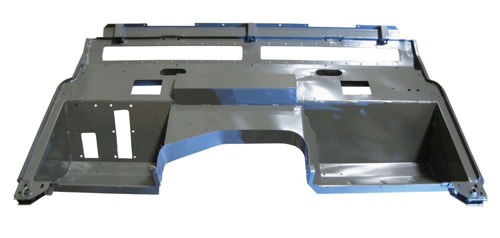 Replacement Galvanized Bulkhead Firewall By Shielder MRC6080LHD, For Land Rover Series III, 1971 - 1974, Left Hand Drive North American Spec, Excluding 2.6L, 3.5L, And Military Air Portable