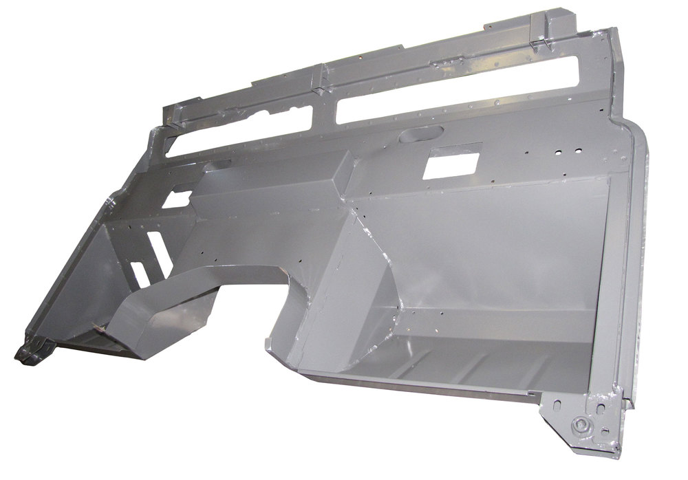 Replacement Powder-Coated Bulkhead Firewall By Shielder MRC6080LHD-Pc, For Land Rover Series III, 1971 - 1974, Left Hand Drive North American Spec, Excluding 2.6L, 3.5L, And Military Air Portable