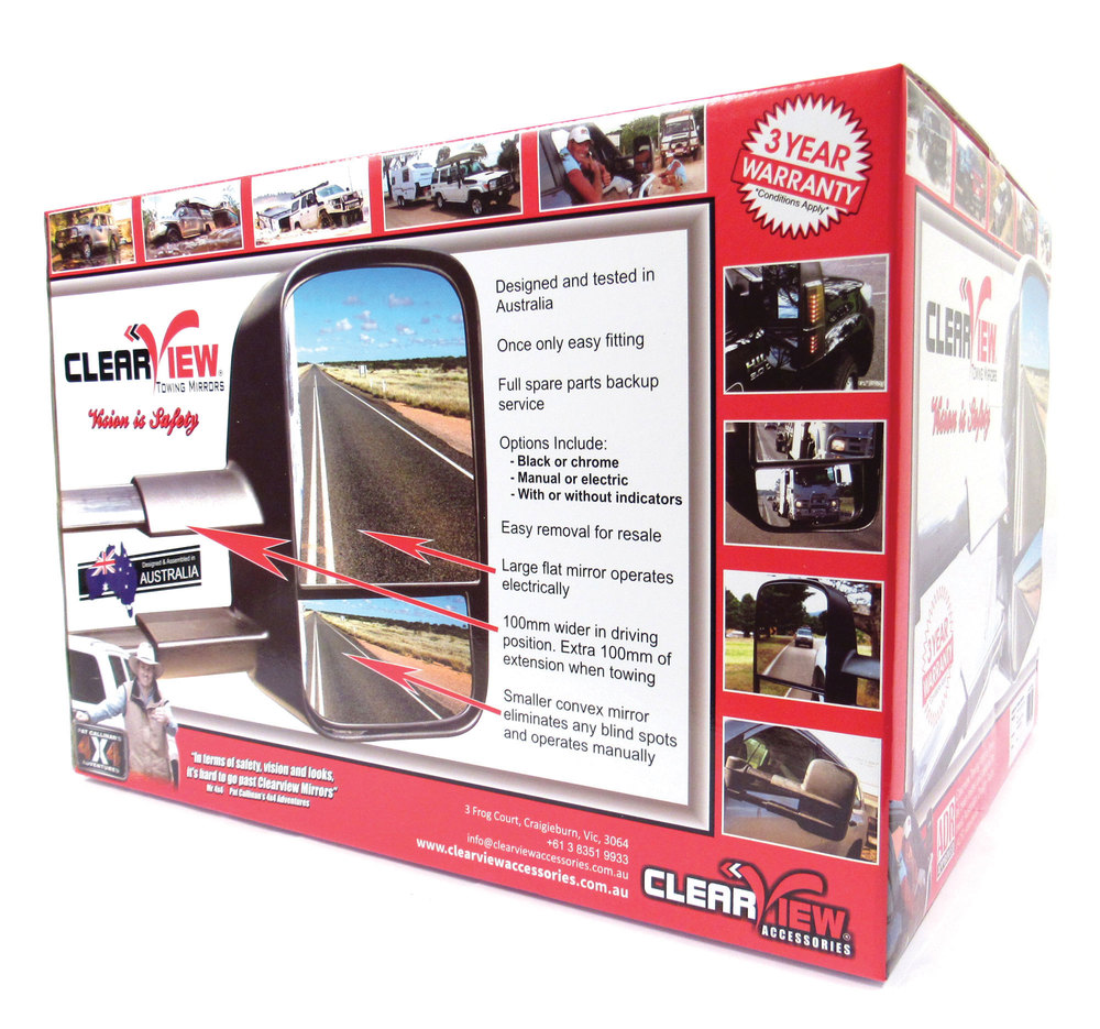 Clearview towing mirrors box shot