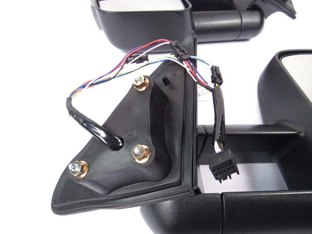 Clearview towing mirror electric hookups for Jeep Grand Cherokee close-up