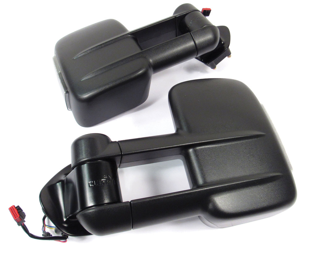 Clearview towing mirrors with integrated indicators for Land Rover and Range Rover bottom side view