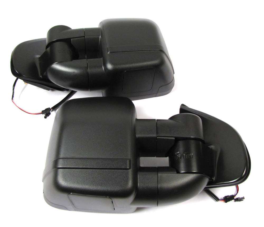 Clearview Next Gen Towing Mirrors, Pair In Black, For Chevrolet Colorado And GMC Canyon 2014 - On, Electric Power Adjustable