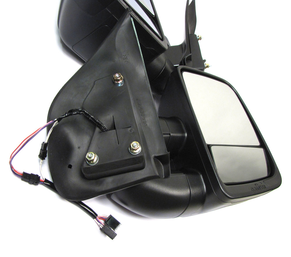Clearview Next Gen Towing Mirrors, Pair In Black, For Chevrolet Colorado And GMC Canyon 2014 - On, Electric Power Adjustable And Heated