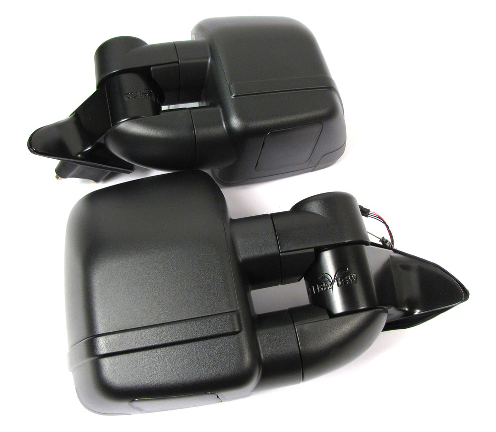 Clearview Next Gen Towing Mirrors, Pair In Black, For Jeep Grand Cherokee 2010 - On, Electric Power Adjustable And Heated