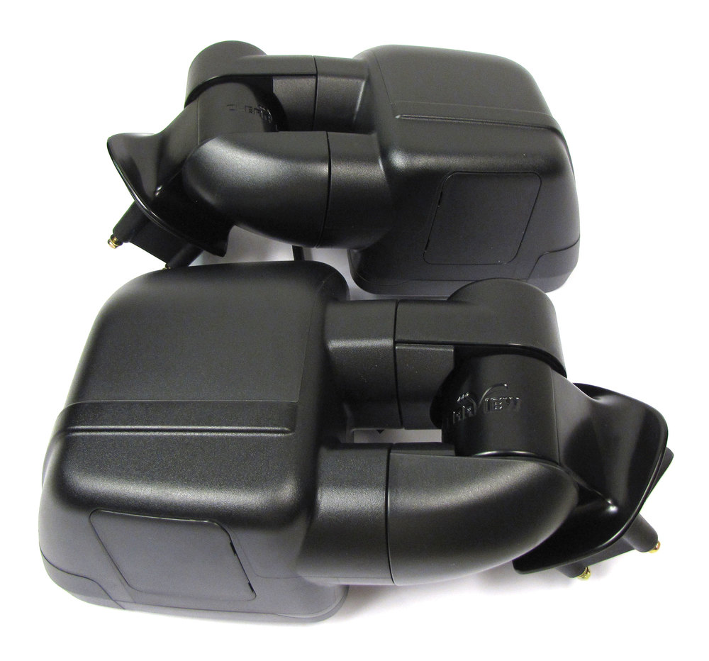 Clearview Towing Mirrors, 2nd Gen, Pair In Black, For Land Rover LR3, LR4 And Range Rover Sport, Electric Power Adjustable (See Fitment Years)