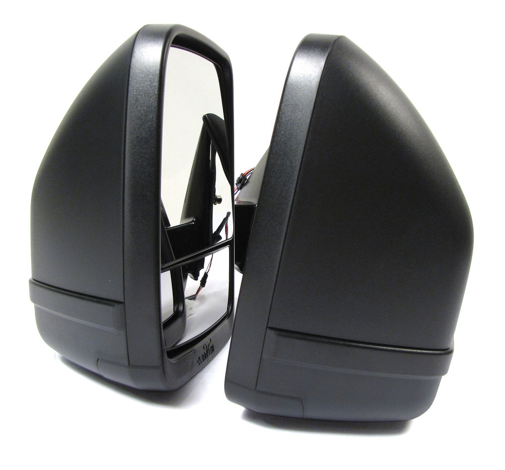 Clearview Next Gen Towing Mirrors, Pair In Black, For Toyota Land Cruiser 100 Series And Lexus LX470 1998 - 2007, Electric Power Adjustable