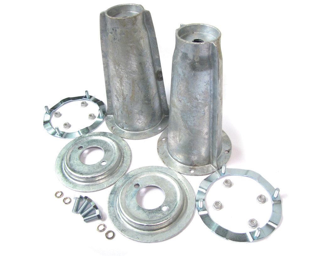 Suspension Shock Tower, Securing Ring And Spring Seat Hardware Kit, Front, Galvanized, For Land Rover Discovery I, Defender 90 And 110, And Range Rover Classic