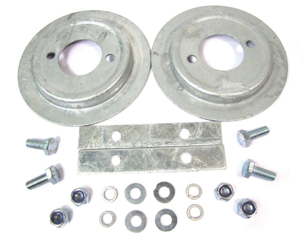 Rear Suspension Galvanized Spring Seat And Fitting Kit, For Land Rover Discovery I, Defender 90, And Range Rover Classic
