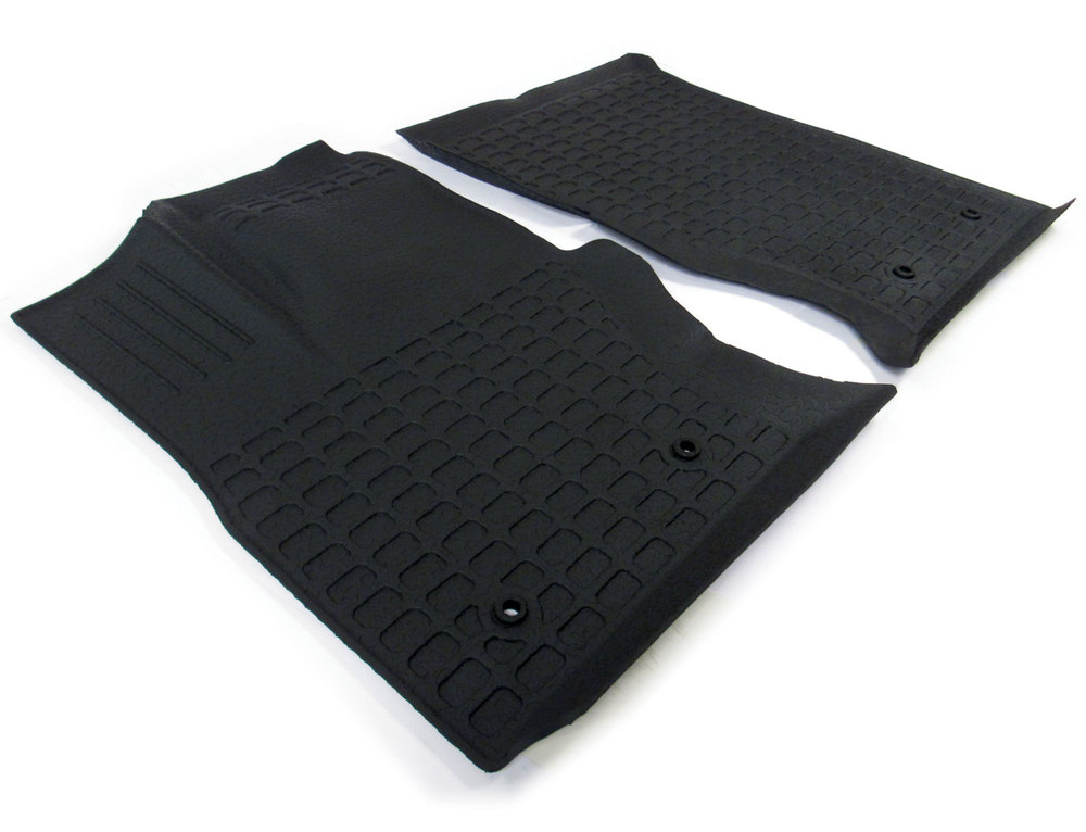 Floor Mat Set, 1st And 2nd Row Black Rubber, Left-Hand Drive Range Rover Full Size (See Fitment Years)