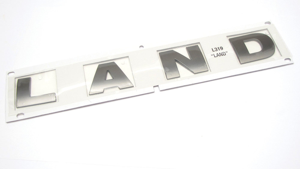 Genuine Hood Decal Lettering 'Land' DAB500050LPO, Brunel Metallic, For Land Rover LR3 (See Fitmnent Years)