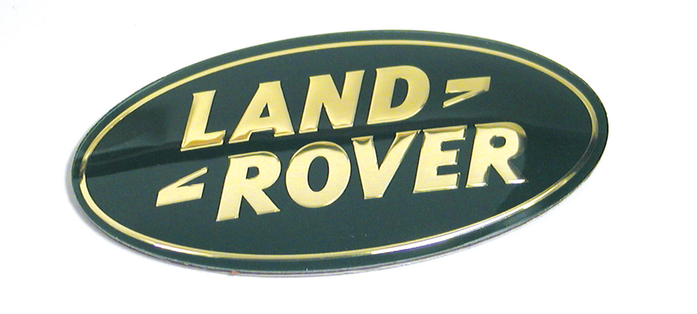 Genuine Land Rover Logo Badge For Rear Cargo Door Handle, Gold And Green, For Land Rover Discovery Series 2, LR3, Range Rover P38 And Range Rover Full Size L322