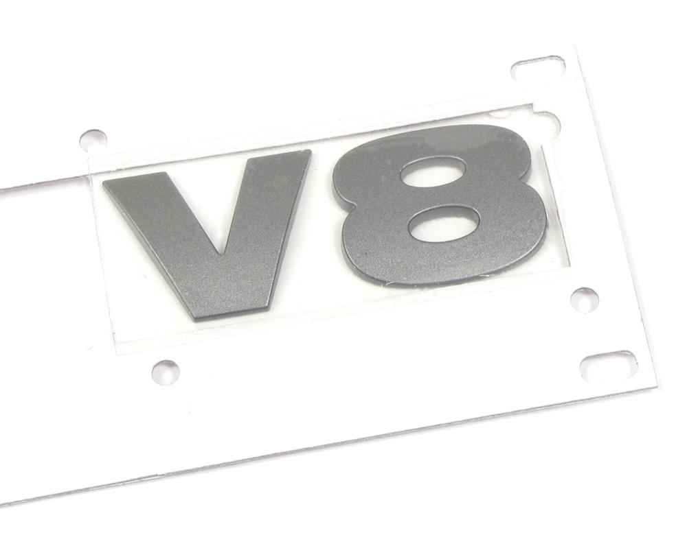 Badge V8 Tail Door Brunel Metallic