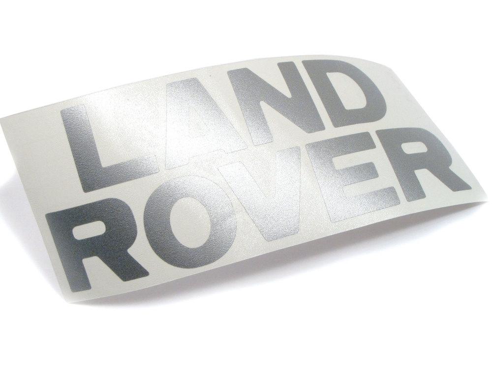 Decal - 'Land Rover' Text - Discovery 1 - Rear Bumper - Silver Metallic