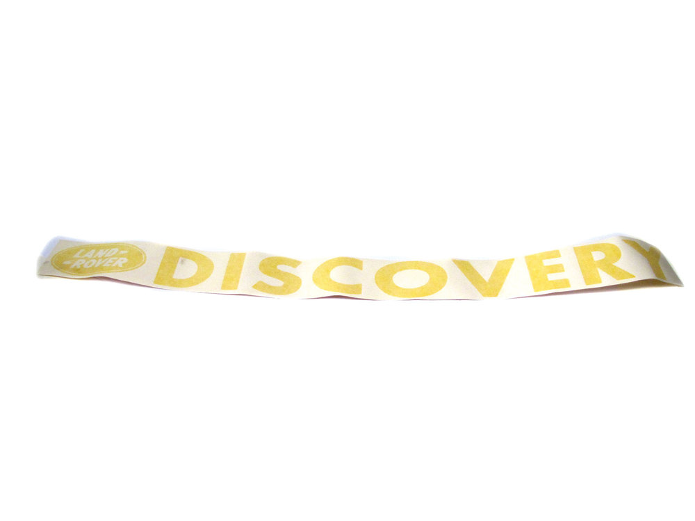 Decal - 'Discovery' With Land Rover Logo - Windshield - Bright Yellow