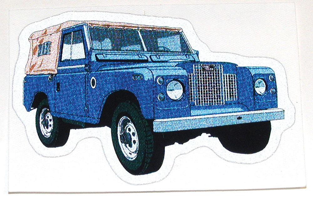 Land Rover Series IIA decal