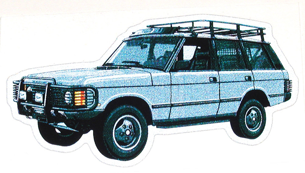 Decal Range Rover Classic Silver